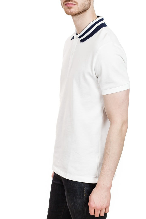 J. Lindeberg Julian Fine Pique Polo in White