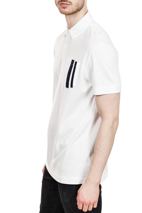 J. Lindeberg Owen Lux Pique Polo in White