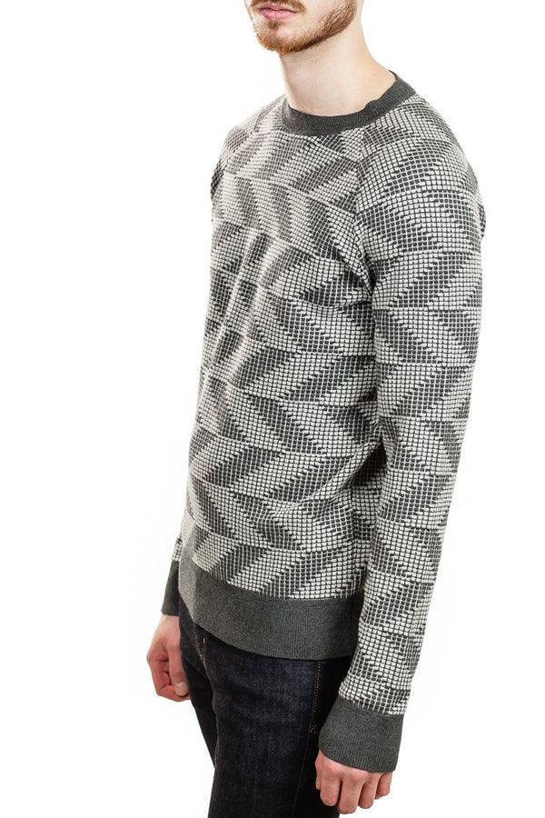 J. Lindeberg Vein Chevron Sweater in Grey