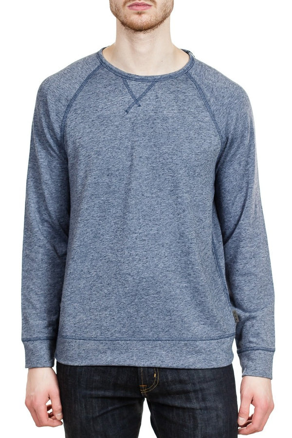John Varvatos Domenic Long Sleeve Crew in Stream Blue