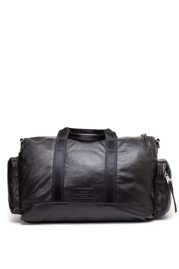 John Varvatos Leather Duffle Bag