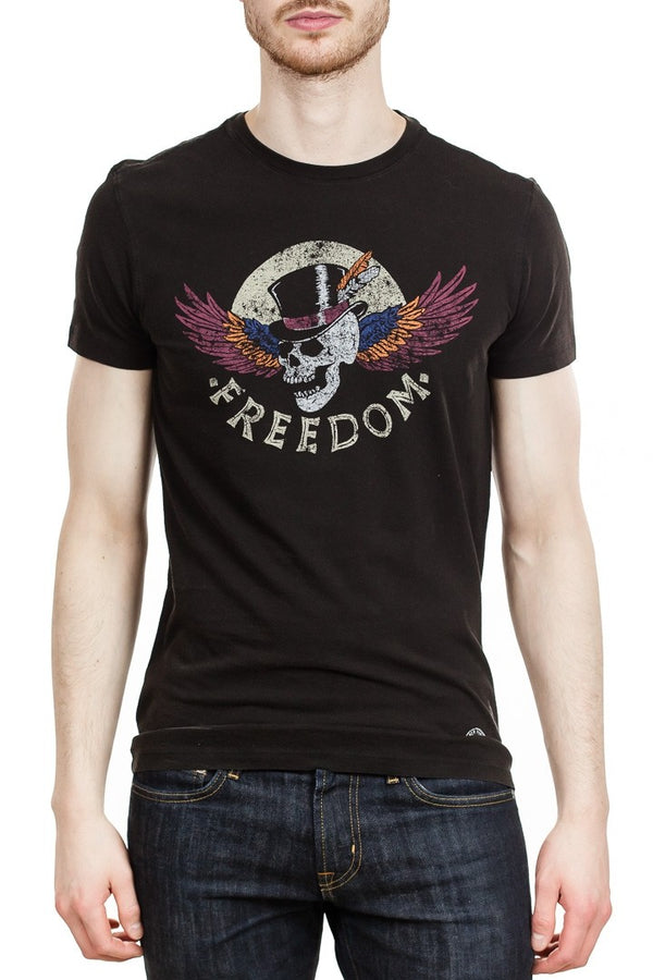 John Varvatos Freedom Skull Tee in Black
