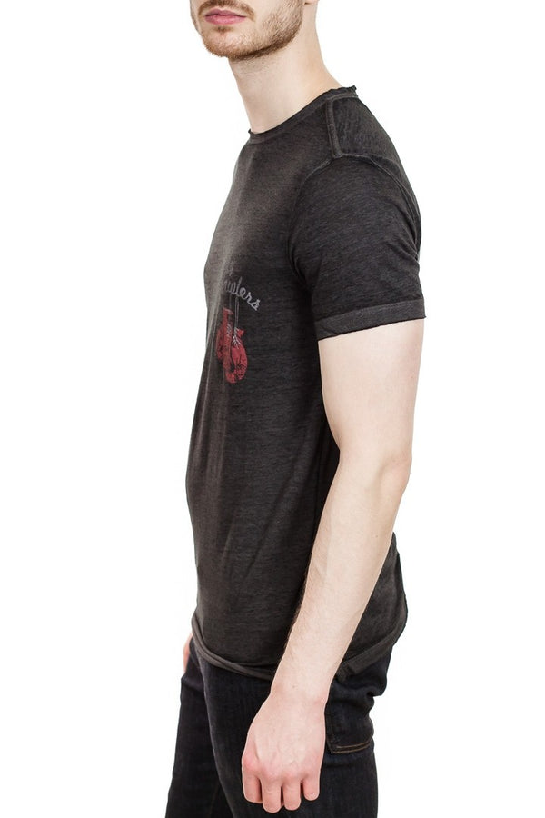 John Varvatos Knock Out Tee in Black