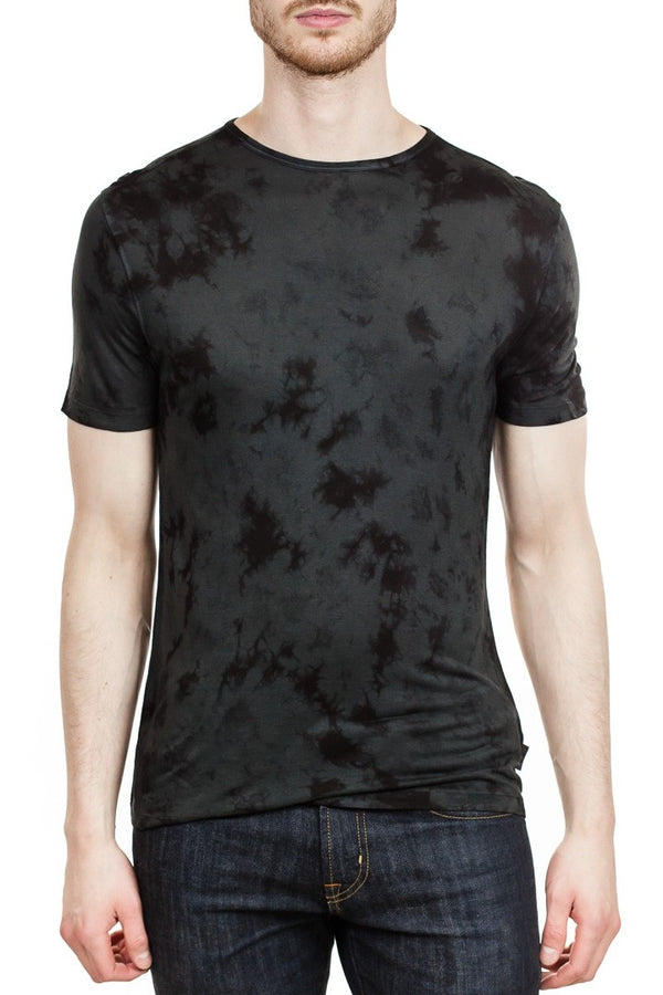 John Varvatos Marcus Tie Dye Crew in Ink