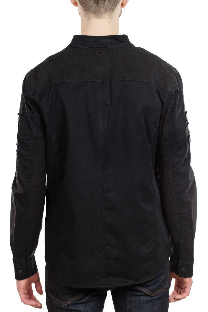 John Varvatos Rodes Military Shirt Jacket in Black