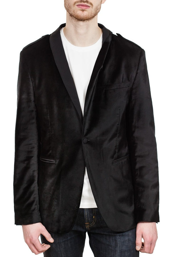 John Varvatos Shawl Collar Jacket in Black Velvet