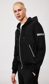 Mackage Grant Jersey And Leather Jacket in Black