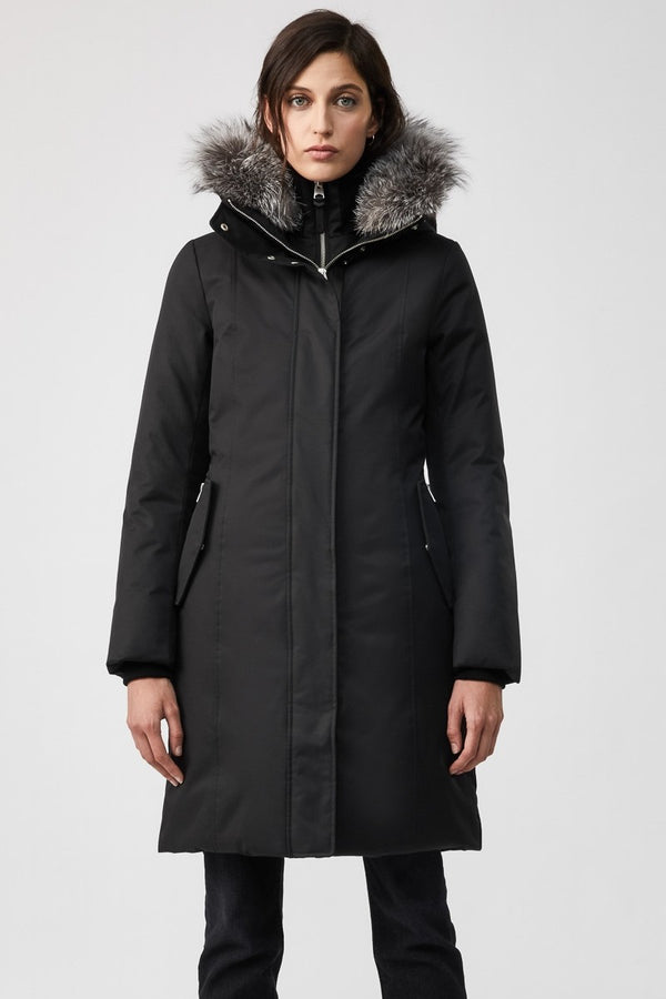 Mackage Harlowe Ladies Winter Down Coat With Silverfox Fur in Black