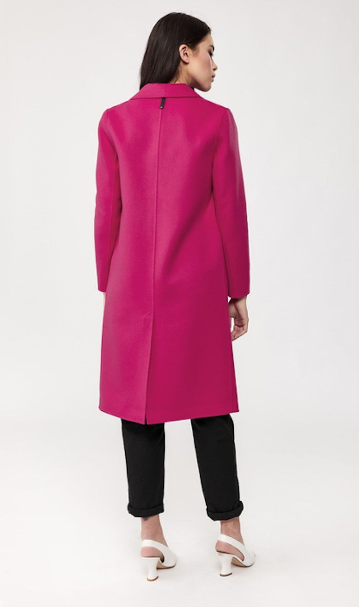Mackage Hens Wool Coat in Fuchsia