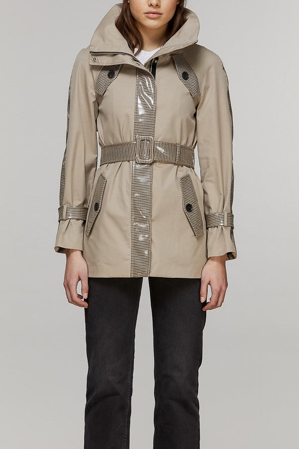Mackage Iva Ladies Neo-Trench Coat in Sand