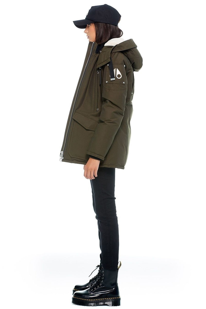 Moose Knuckles Ladies Arthurette Jacket in Army