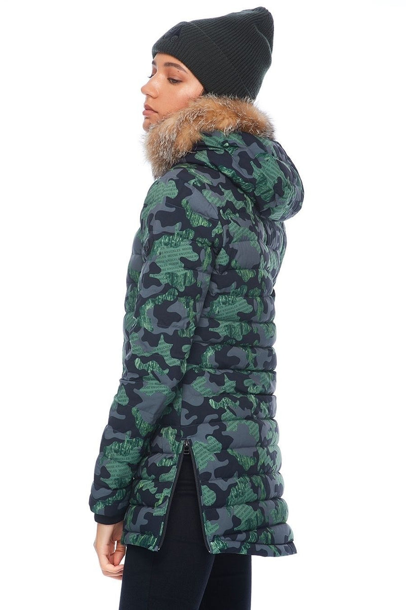Moose Knuckles Ladies Caplan Jacket in Camo Army