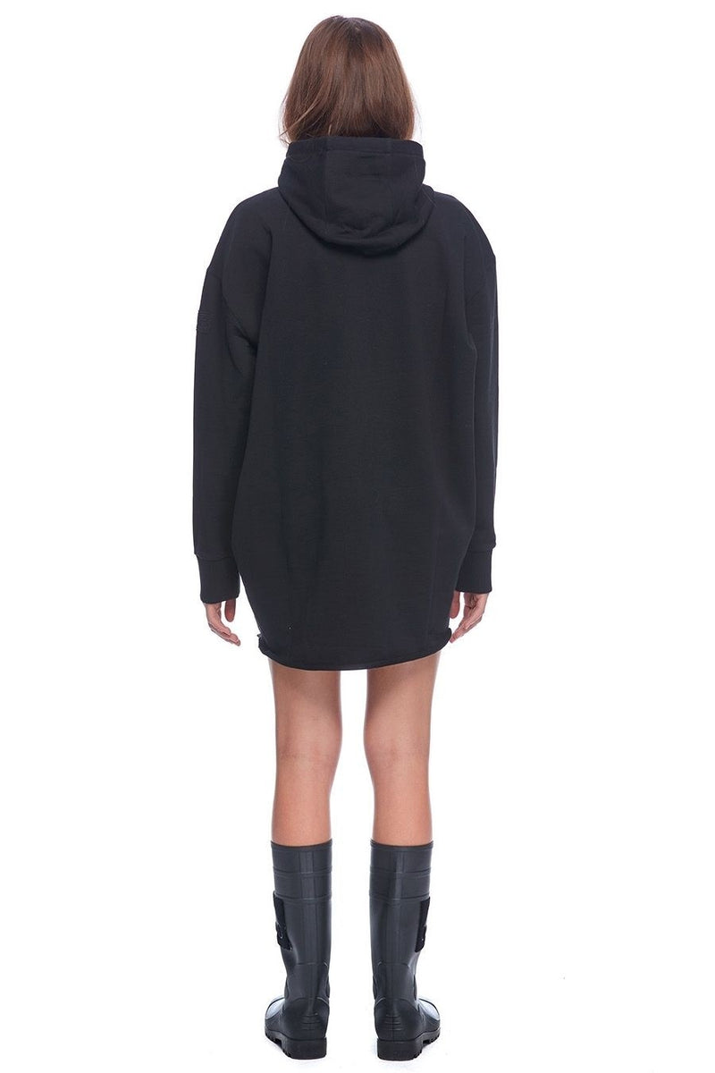 Moose Knuckles Moose Script Hoodie Dress in Black