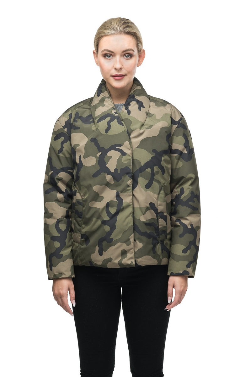 Nobis Adele Ladies Double Breasted Jacket in Camo