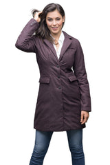 Nobis Hazel Ladies Coat in Heathered Burgundy