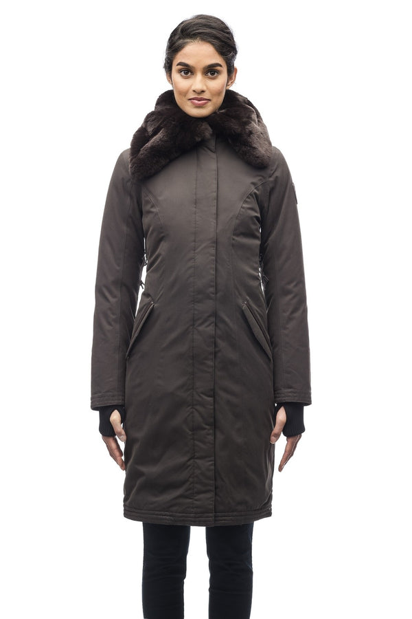 Nobis Lady Taylor Ladies Coat in Dark Brown