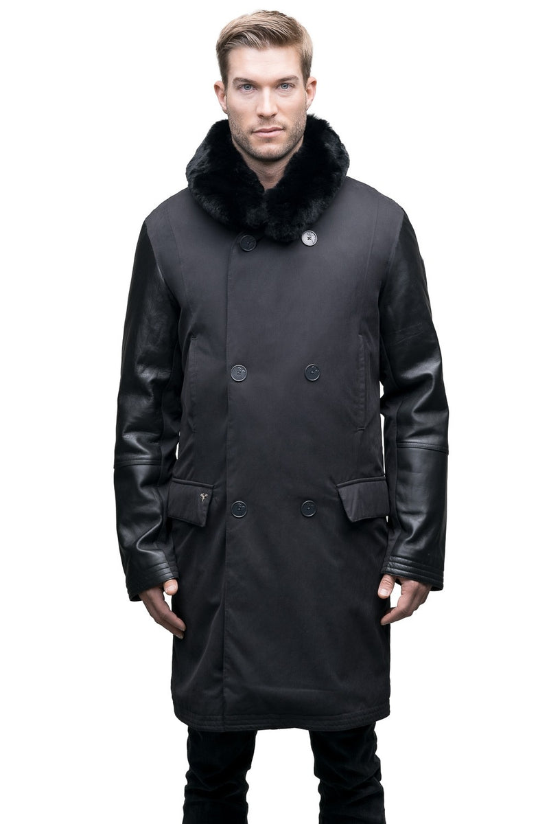 Nobis Quinton Men&#39 s Shawl Collar Coat in Black