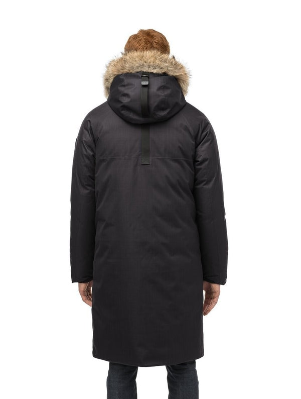 Nobis Will Men&#39 s Knee Length Parka in Black
