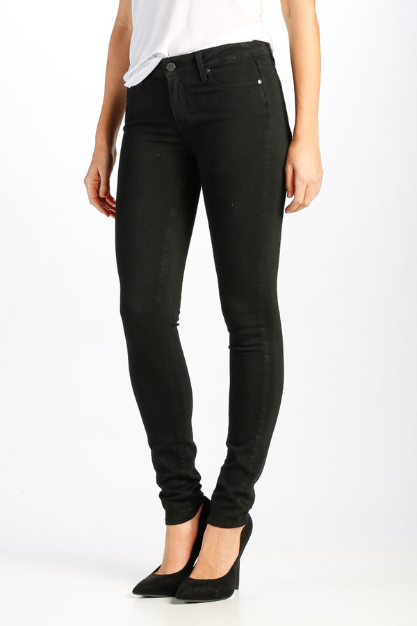 PAIGE Verdugo Ultra Skinny Fit Jeans in Black Shadow