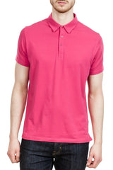 Patrick Assaraf Stretch Lightweight Polo in Rhubarb