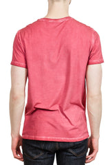 Patrick Assaraf Sublime Wash Pima Crew in Chalk Red
