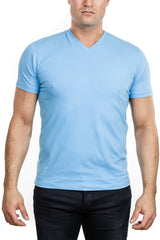 Patrick Assaraf - V-Neck T-Shirt - Sky
