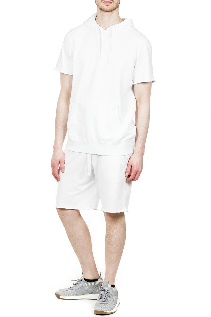 Reigning Champ Cut-Off Pullover Hoodie in White