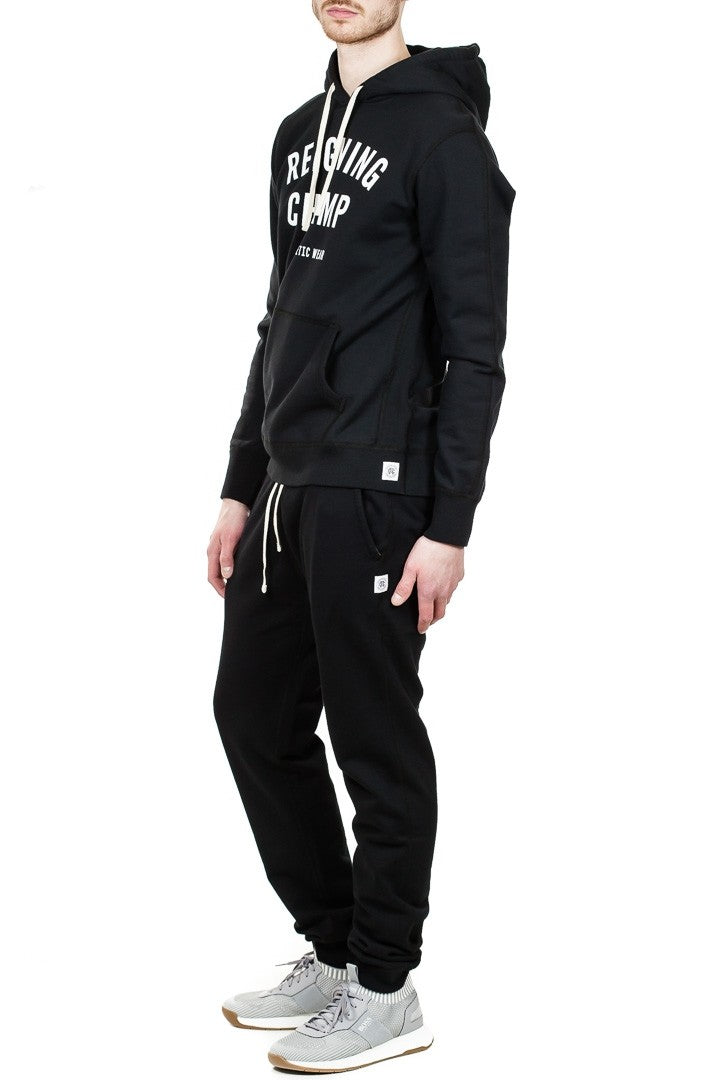 Reigning Champ Gym Logo Pullover Hoodie in Black