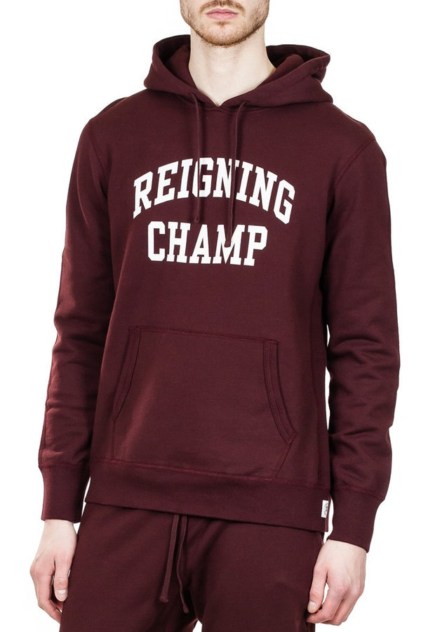 Reigning Champ Ivy Pullover Hoodie in Crimson