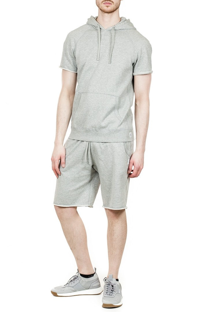 Reigning Champ Cut-Off Sweatshort in Heather Grey