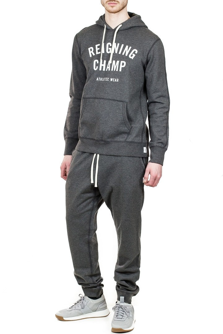 Reigning Champ Slim Sweatpant in Heather Charcoal