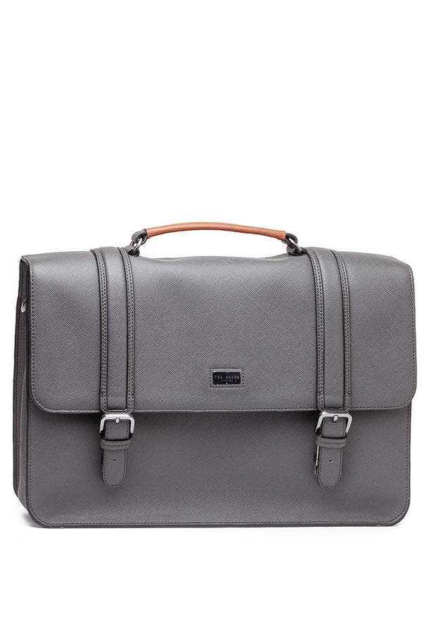 Ted Baker Crossgrain Satchel in Grey