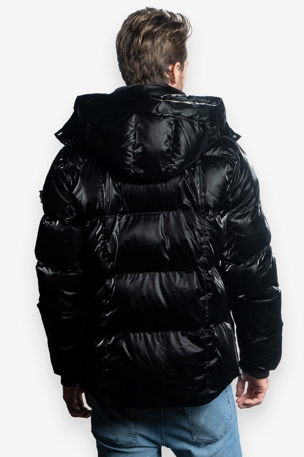 Woodpecker Men&#39 s Bumnester 3/4 Jacket in All Wet Black