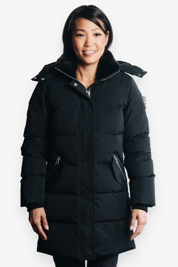 Woodpecker Women&#39 s Penguin Long Jacket in Black