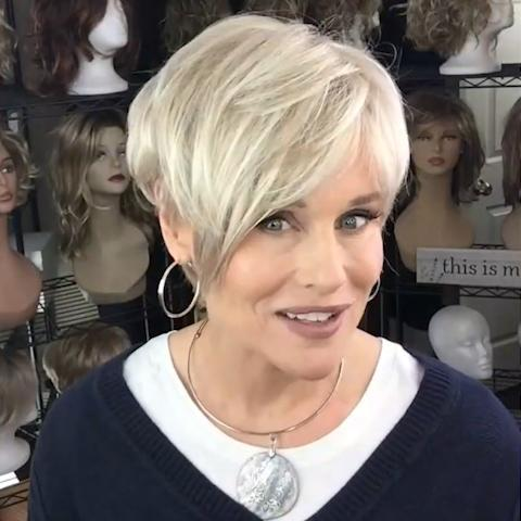 (45%OFF SALE)2020 Soft White Gold Short Wig