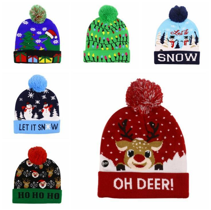 {40% Off Today!}Christmas LED Beanies