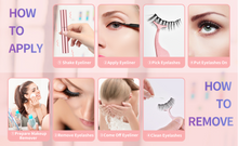 Load image into Gallery viewer, 💖Upgraded 3D Reusable Magnetic Eyelashes Kit (3 Pairs+Eyeliner + magnet + tweezers)💖