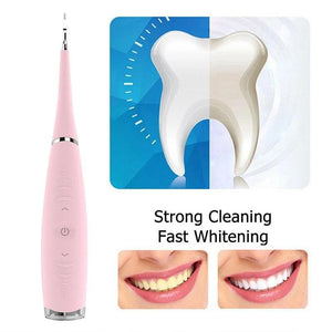 Ultrasonic tooth cleaner can effectively separate dental plaque, dental calculus, and stains, removes hard tartar easily from the teeth preventing gum disease.