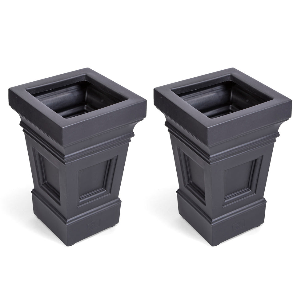 Atherton Planter Box 2 Pack (Onyx Black)