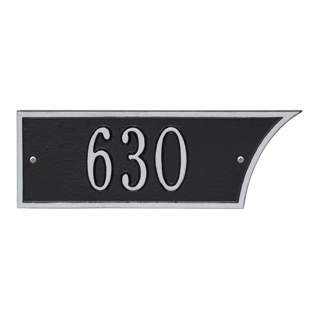 Black/Silver 1-Line Address Plaque