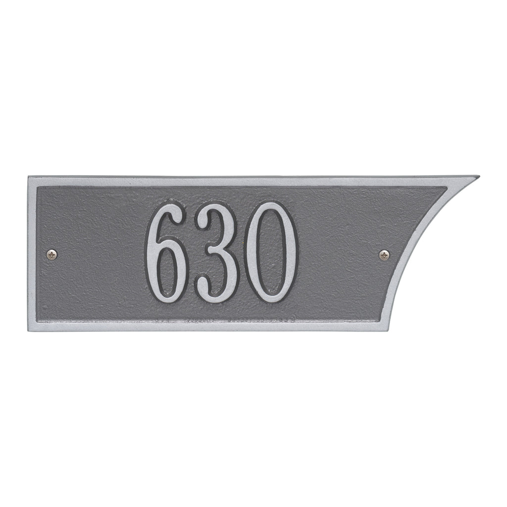 Pewter/Silver 1-Line Address Plaque
