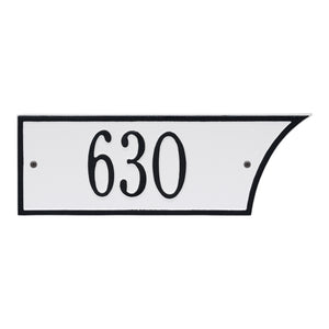 White/Black 1-Line Address Plaque