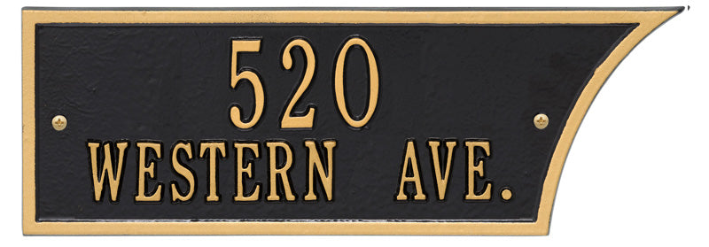 Black/Gold Plaque