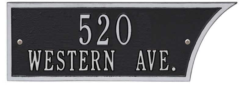 Black/Silver Plaque