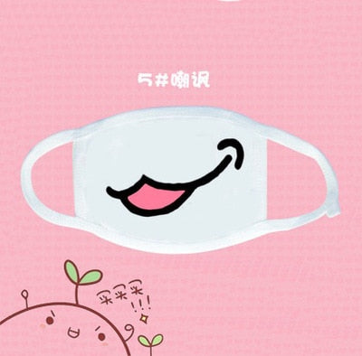 White Kawaii Face Mask