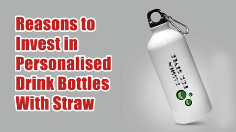personalised drink bottles with straw