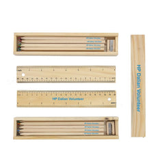 HW60 - 12 Piece Colour Pencil, Sharpener And Ruler Set