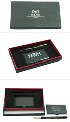 HWOS160 - METAL NAME CARD HOLDER AND PEN SET