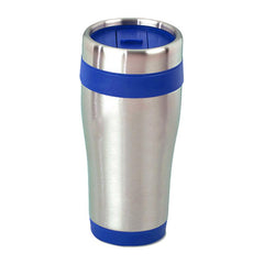 HWD09 - 400ml ISLA STAINLESS STEEL DRINKING BOTTLE WITH COLOURED BASE AND LID