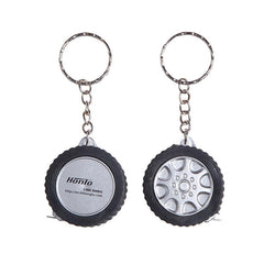 HWH43 - TYRE KEYCHAIN WITH TAPE MEASURE